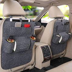 Car Back Seat Organizer Storage Bag Travel Accessories