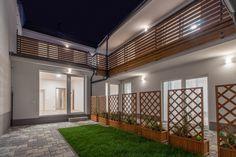 Rekonstrukce domu v Brně na ulici Ctiradova. #homedesign #garden #balcony Divider, Garage Doors, Outdoor Decor, Furniture, Home Decor, Decoration Home, Room Decor, Home Furnishings, Home Interior Design