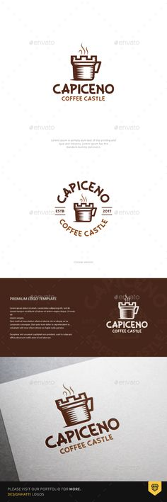 Coffee Castle Logo - Food Logo Templates Download here : https://graphicriver.net/item/coffee-castle-logo/19410479?s_rank=83&ref=Al-fatih
