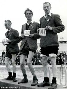 Butlins holiday camp in 1940..This must be the knobbly knees contest..the winner has to be the one on the far left!