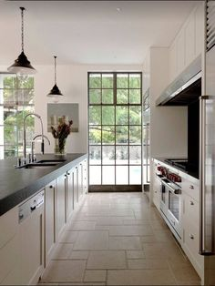 29 Awesome Galley Kitchen Remodel Ideas (A Guide to Makeover Your Kitchen) – Home Design Arts Open Galley Kitchen, White Galley Kitchens, Galley Kitchen Design, Galley Kitchen Remodel, Kitchen Cabinet Remodel, Kitchen Remodeling, Kitchen Island, Kitchen Reno, Minimal Kitchen