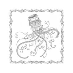 How Will YOU Colour This Little Inky Jellyfish You Have Until October To Decide