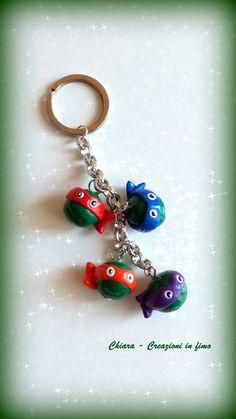Portachiavi in #fimo Ninja Turtles #handmade #polymerclay