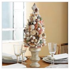 coastal decorating ideas | shell tree | Coastal Ideas and decor