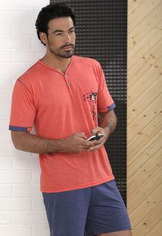 Pijama verano hombre Massana. http://www.perfumeriaelajuar.com/homewear/pijamas-hombre-verano/36/