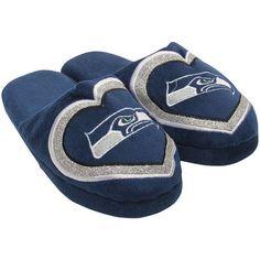 Women's Seattle Seahawks Love Glitter Slippers
