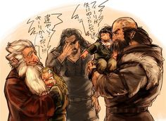 Little Fili and Kili. :3 Uncle Thorin is not amused. Wish I could understand what they were saying. It's cute anyway.