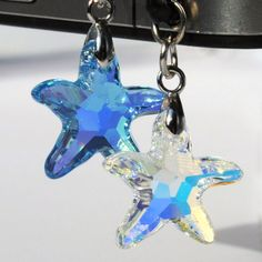 Crystal Starfish Bling dust plug for smartphone iphone4 iphone5 Samsung Nokia