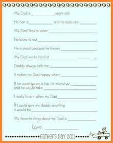 Printable Father's Day Interview Poster