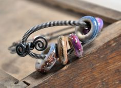 Among Anemone from Rustic Wrappings by Kerry Bogert, beads by Yee Kwan