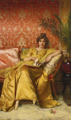 """""""The Rose"""" ~ Frédéric Soulacroix (1858 - 1933)"""