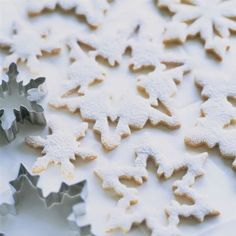 ♕ love these snowflake cookies
