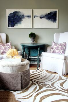 One of the best project I have seen in a long time! DIY Decor Metallic Gold Zebra Print Rug