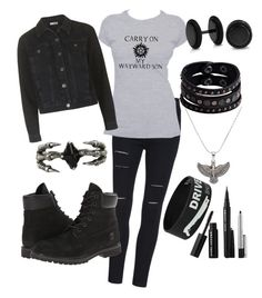 """I have no titles:P"" by hello-poop-123 ❤ liked on Polyvore featuring Topshop, Timberland, Bling Jewelry, Replay, Alex and Ani, Sephora Collection and KD2024"