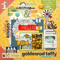 Goldenrod Taffy *Echo Park Made From Scratch* - Scrapbook.com