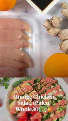 High Protein Recipes, Protein Foods, Healthy Salad Recipes, Healthy Chicken Recipes, Summer Recipes, Holiday Recipes, Orange Salad, Cheat Meal, Orange Chicken