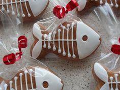 Fish skeleton cookies zdobení perníčků - ryba