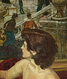 Carel Victor Morlais Weight Woman's Head, n. oil on canvas, 30 x cm Tate Gallery, Royal College Of Art, Rome Travel, Art Uk, Victoria And Albert Museum, Artist At Work, Oil On Canvas, Image, England