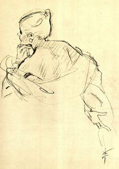 Study, 1948, René Gruau