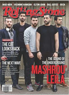 Beirut indie band Mashrou' Leila become the first regional artists to appear on the cover of Rolling Stone in their next issue!