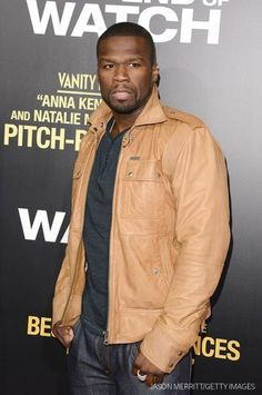 '50 Cent' Curtis James Jackson arrives at the premiere of 'End of Watch' at Regal Cinemas L.A.