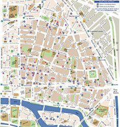 Le Marais Map with restaurants, museums, etc in le marais