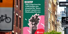 Spotify puts its vast trove of listener data to playful use in a new global out-of-home ad campaign—its largest OOH effort to date—with executions that playfully highlight some of the more bizarre user habits it noticed throughout 2016.
