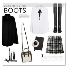 """Over the knee boots!"" by michelledany ❤ liked on Polyvore featuring Stuart Weitzman, Dolce&Gabbana, Harrods, MANGO, Alexander McQueen, Trish McEvoy, Smythson and NARS Cosmetics"