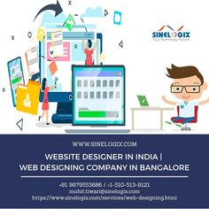 Sinelogix is a top of the line creative small web design company in Bangalore, dedicated to enriching website experiences by providing innovative and ingenious solutions by expert team of website designer in Bangalore to small and large-scale businesses. So, Contact Us Now! #web_designer_in_Bangalore #website_designer_in_India #web_designing_company_in_Bangalore #Developer #Designer #websitedesigner #webdesigner #webdeveloper #ecommerce_in_bangalore #ecommerce_web_developers Web Design Services, Web Design Company, Website Development Company, Web Development, Ecommerce, Innovation, Scale, The Incredibles, India