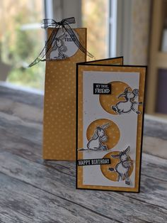 Homemade Birthday Cards, Happy Birthday Cards, Homemade Cards, Fun Fold Cards, Folded Cards, Cool Cards, Birthday Card Design, Stamping Up Cards, Animal Cards