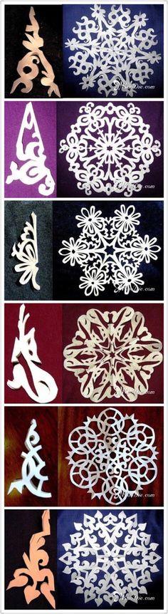 [Christmas] 29 DIY handmade paper-cut snowflakes illustration (4) Each pattern has beauty to burst