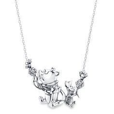 Winnie the Pooh and Piglet make wishes while blowing dandelions on this charming necklace by RockLove. Inspired by Disney's live-action Christopher Robin, the best friends are crafted in sterling silver and hangs from a slender cable chain. Disney Engagement Rings, Disney Rings, Disney Jewelry, Disney Necklace, Walt Disney Princesses, Cute Winnie The Pooh, Disney Outfits, Disney Clothes, Disney Couture