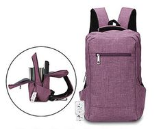 Winblo 15 Inch Lightweight Travel Laptop Backpack Bag Shoulder College Backpacks (Purple) - Works as described. Quality is good and seem durable. Backpack Outfit, Backpack Bags, Fashion Backpack, Best Laptop Backpack, Backpack For Teens, Best Backpacks For College, Backpack With Wheels, 17 Inch Laptop, Lightweight Backpack