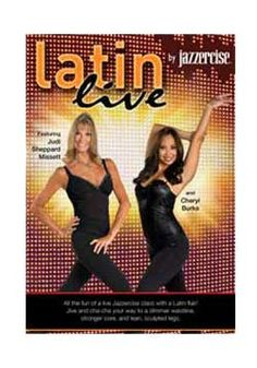 Love this Latin based workout featuring #DWTS Champion Cheryl Burke and Jazzercise Founder Judi Sheppard Missett. Order your copy today www.jazzercise.com