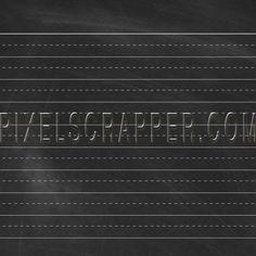 School Paper Lined Black