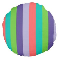 Vertical striped abstract pillow