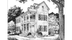 Looking for the best house plans? Check out the Port Royal Coastal Cottage plan from Southern Living. House Plans 2 Story, Narrow Lot House Plans, New House Plans, Dream House Plans, House Floor Plans, Charleston House Plans, Southern Living House Plans, Beach House Plans, Luxury House Plans