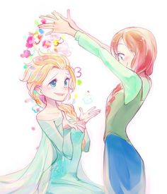 Frozen - Queen Elsa x Princess Anna - Elsanna Anna Frozen, Frozen Art, Disney Frozen, Frozen Pics, Frozen Stuff, Frozen Movie, Pixar Movies, Disney Films, Disney And Dreamworks