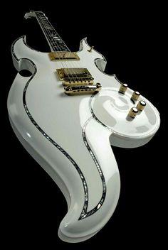 #WhiteandGold Electric Guitar