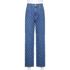Stylish Argyle Straight Blue Y2K Jeans For Girls Female 2021Vintage Denim Pants For Women High Waisted Trouser Harajuku Capri Jeans  - AliExpress Blue Plaid Skirt, Plaid Skirts, Blue Denim, Blue Jeans, Plaid Fashion, Fashion Pants, Hipster Fashion, Fashion Women, Wide Leg Jeans