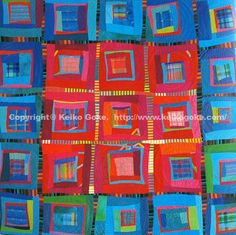 Keiko Goke on Pinterest | Log Cabins, Log Cabin Quilts and Heart ...