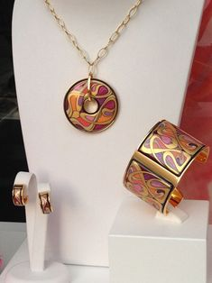 Frey Wille Jewelry - karat gold and gold-plated brass and enamel styles with motifs inspired by Gustav Klimt