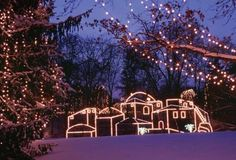Way of Lights, Our Lady of the Snows  in Belleville IL, lots of great memories of going here as a kid in St Louis