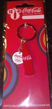 LONDON 2012 OLYMPICS COCA - COLA RED BOTTLE / WHITE OLYMPIC RINGS LOGO KEYRING