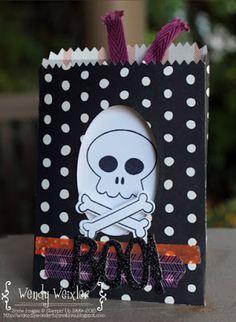 Wickedly Wonderful Creations: Playin' with the Freaks! - SU - Halloween treat bag -  Howl-o-ween Treat