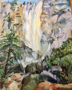 Original Landscape Painting Yosemite Waterfalls 16 x Yosemite National Park, National Parks, Yosemite Waterfalls, Yosemite Falls, Art Forms, Landscape Paintings, Art Decor, Pattern Design, Vibrant
