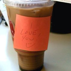 Love the idea surprising & delighting someone special w/ a coffee & a sweet note!