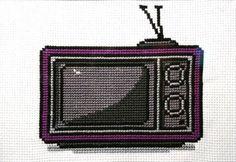 Retro Television Cross Stitch Pattern by HugsAreFun on Etsy