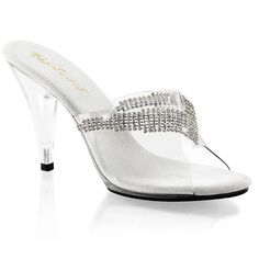 Sexy Women High Heel Rhinestone Chain Ornament Slide Shoes Sandal FABULICIOUS #FABULICIOUS #Sandals