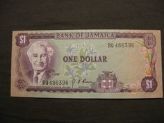 Jamaican one dollar before the 90's